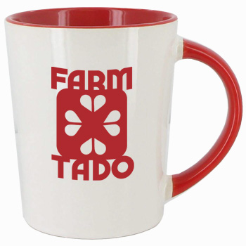 12 oz glossy sorrento coffee mugs - Red