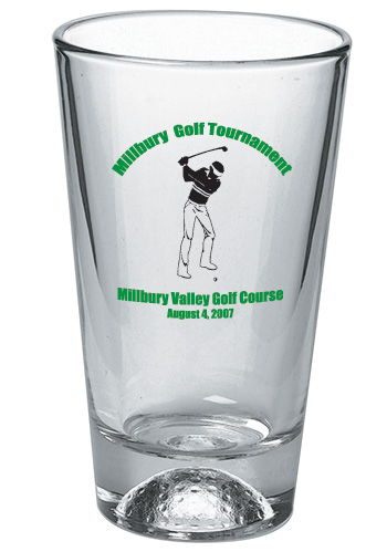 Libbey Golf Custom Designed Pint Glasses - 16 oz Mixing Glass