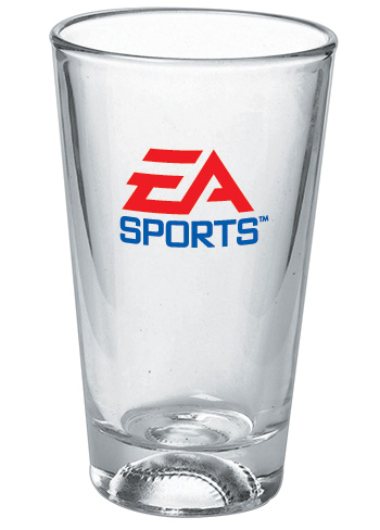Baseball Pint Glasses - 16 oz sport mixing Glass