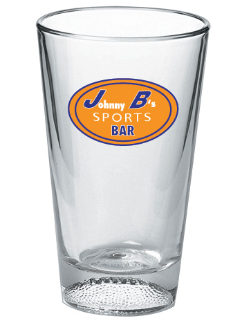 Football Pint Glasses - 16 oz Mixing Glass