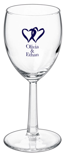 6.5 oz rastal custom printed wine glass