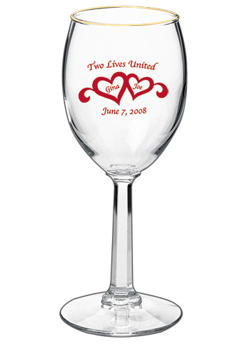 Libbey napa country promotional wine glass - 6.5 oz