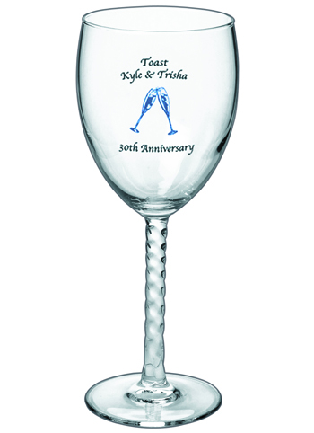 8.5 oz angelique custom wine glass