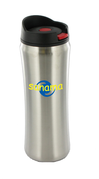 14 oz clicker travel mug silver 2107901 1 for Www clickerproducts com