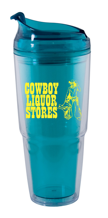 22 oz. Dual aqua promotional Travel Tumbler
