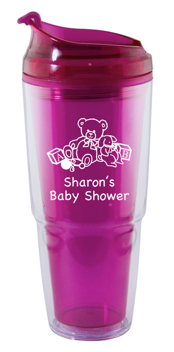 22 oz. Dual magenta Travel Tumbler