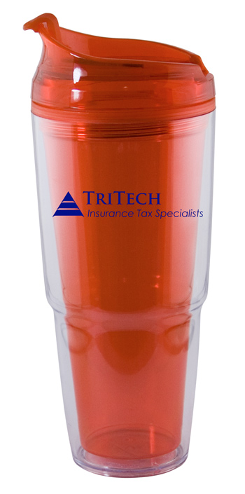22 oz. Dual orange Travel Tumbler