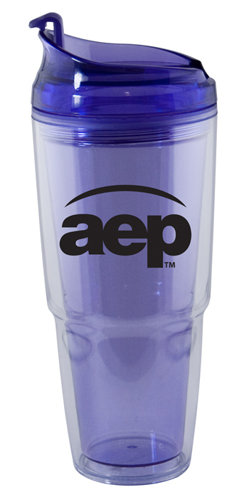 22 oz. Dual purple promotional Travel Tumbler