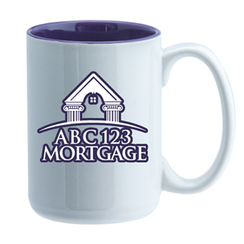 15 oz El Grande Two Tone Promo ceramic mug - purple interior