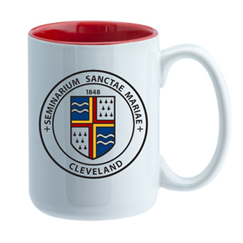15 oz El Grande Promotional Two Tone ceramic mug - red interior