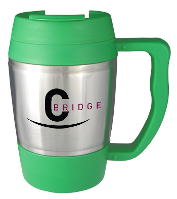 16 oz highlander travel mug - green