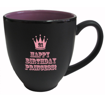 15 oz matte custom printed black out lilac in hilo bistro mugs