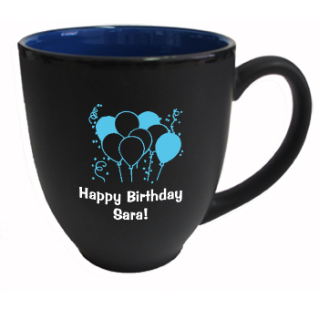 15 oz matte custom black out blue in hilo bistro coffee mugs