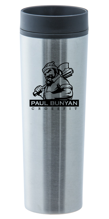 16 oz stainless steel black monterey travel tumbler