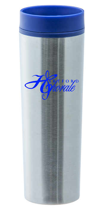 16 oz stainless steel blue monterey travel tumbler