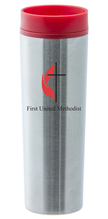 16 oz stainless steel red monterey travel tumbler