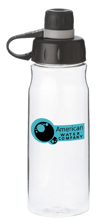 28 oz oasis poly sports water bottle - clear