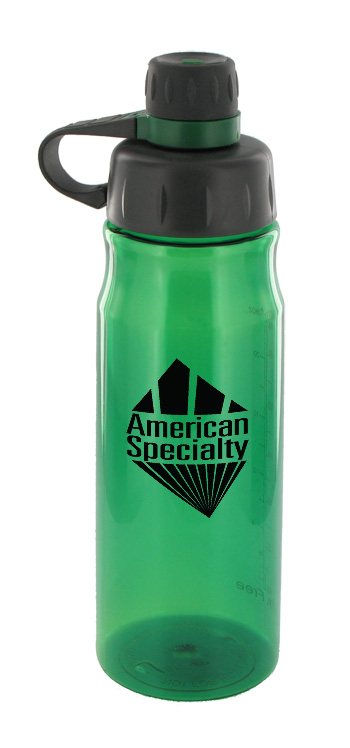 28 oz oasis poly sports water bottle - green