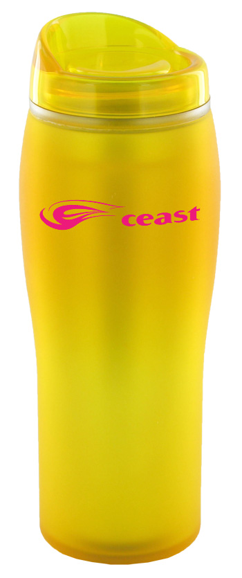 14 oz optima matte surface travel mug - yellow
