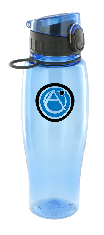 24 oz quenchers polycarbonate bottle - light blue