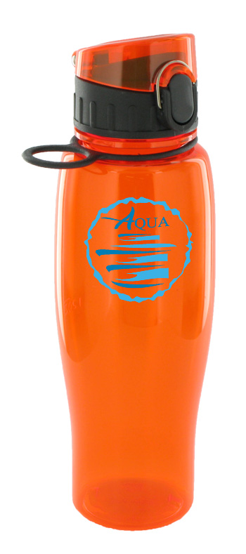 24 oz quenchers polycarbonate bottle - orange