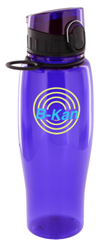 24 oz quenchers polycarbonate bottle - purple