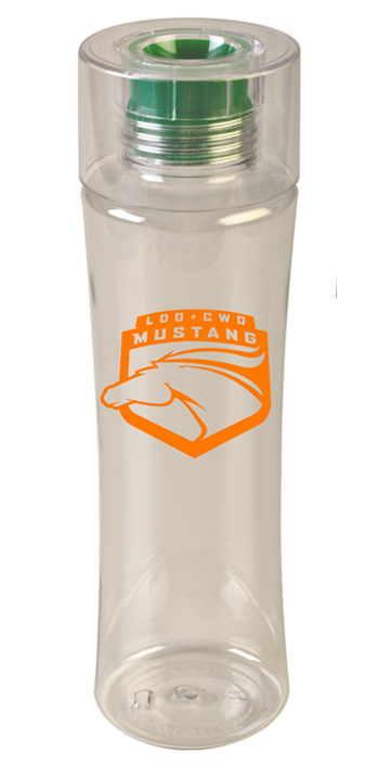 24 oz Reef Green Custom sports bottle  - BPA Free