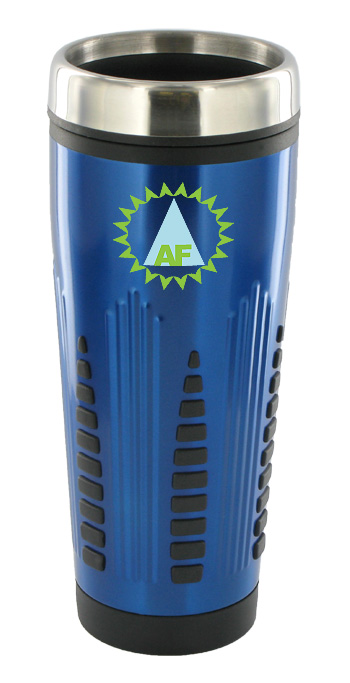 16 oz rocket stainless steel insulated travel mug - blue