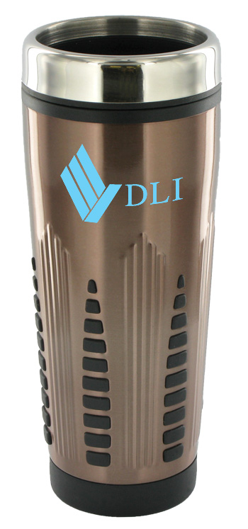 16 oz rocket stainless steel insulated travel mug - bronze