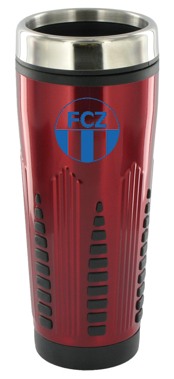 16 oz rocket stainless steel insulated travel mug - red