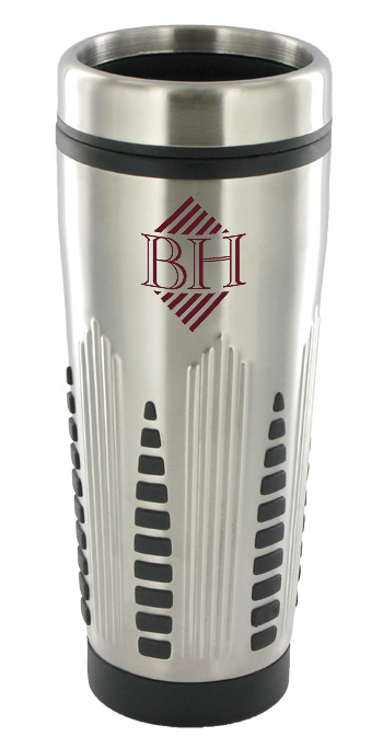 16 oz rocket travel mug - silver