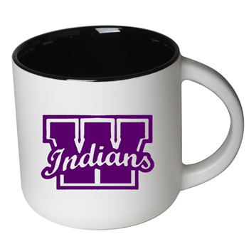 14 oz Sedona Mug - Matte White Out/Gloss Black In