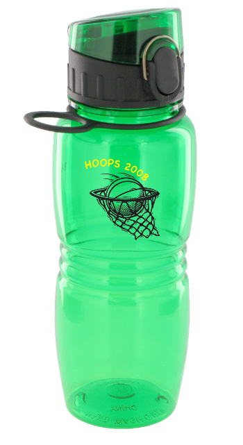 17 oz splash sports water bottle - green