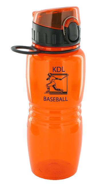17 oz splash sports water bottle - orange