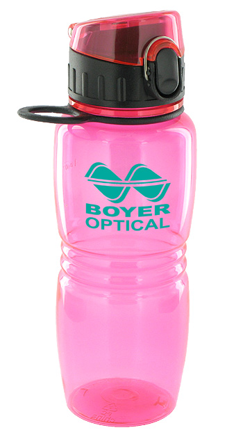 17 oz splash sports water bottle - pink