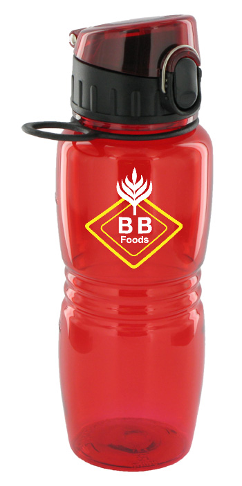 17 oz splash sports water bottle - red
