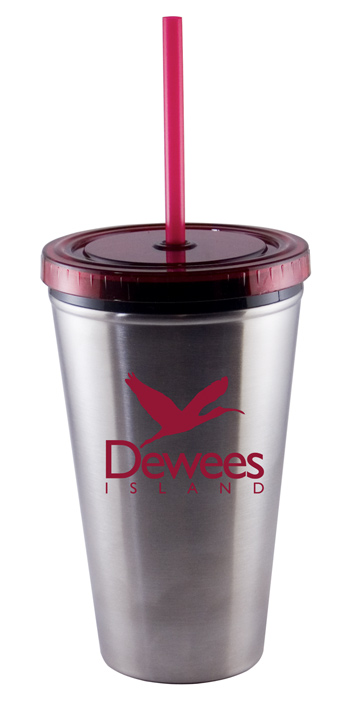 16 oz red Stainless Steel Journey travel cup - Free Shipping