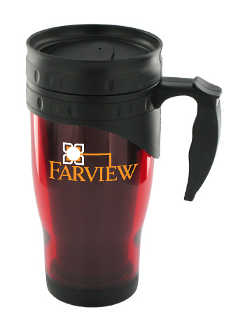 16 oz traveler insulated travel mug - red - Free Shipping