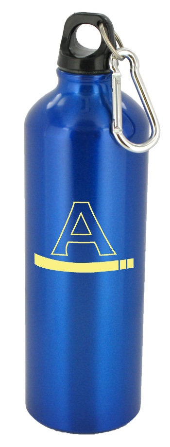 25 oz trek aluminum sports bottle - blue