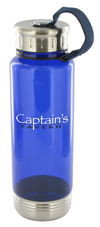 24 oz venture sports water bottle - blue