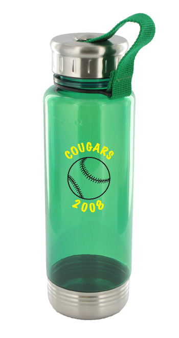 24 oz venture sports water bottle - green