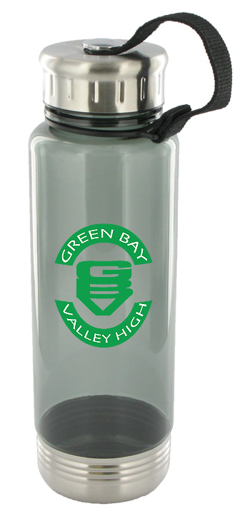 24 oz venture sports water bottle - smoke