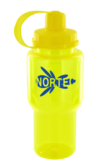 22 oz yukon polycarbonate bottle - yellow