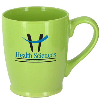 16 oz glossy kinzua custom printed coffee mugs - celery green