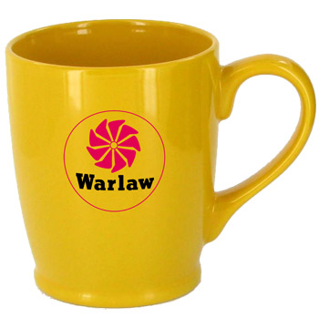 16 oz glossy kinzua coffee mugs - yellow