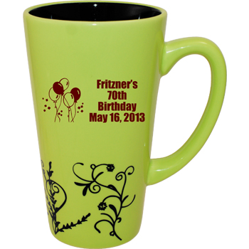 16 oz Vineland Funnel Mug - Kiwi Green