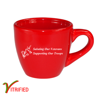 3.5 oz custom restaurant espresso cup - Crimson Red