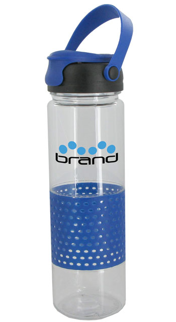 24 oz Blue Sport w/Rubber Perforated Sleeve - BPA Free
