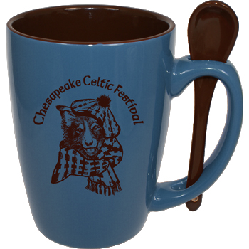 16 oz. Steel Blue Reading Spoon Mug