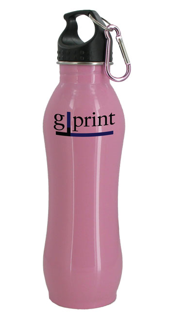 24 oz Pink Summit Stainless Steel Bottle w/Carabiner